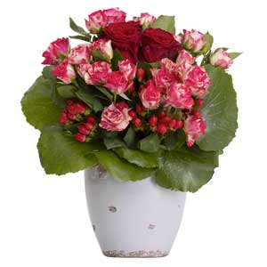 Bouquet rose rosse e rosa