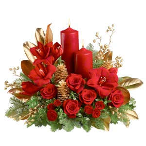 Composizione con candela rossa
